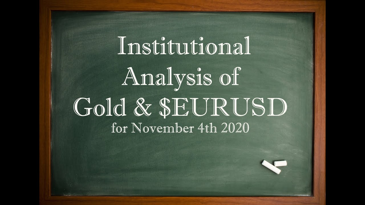 Institutional Analysis of #GOLD and $EURUSD - Nov 4th 2020