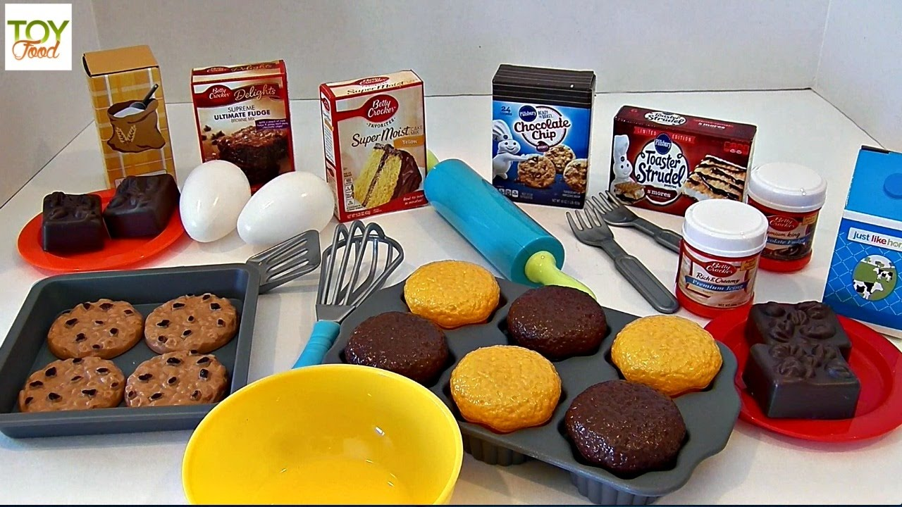 Just Like Home Toy Food : Betty crocker baking playset toy food learn names