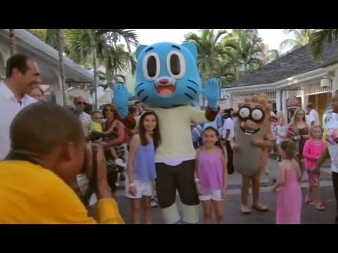 Cartoon Network character parade at Atlantis Paradise Island Bahamas