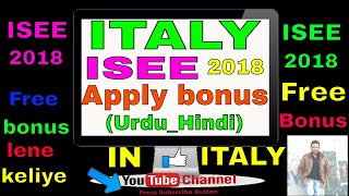 ITALY ISEE 2018 Required Documents X Apply And get All bonus (Urdu_Hindi)