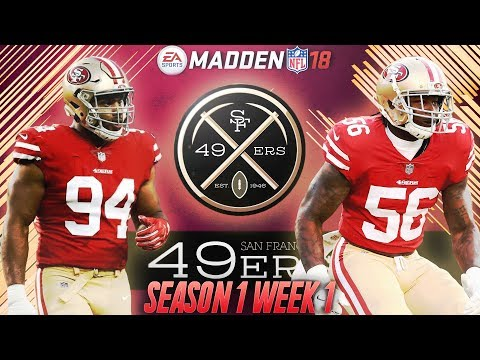 Madden 18 San Francisco 49ers Connected Franchise   Season 1 Week 1 vs. The Carolina Panthers