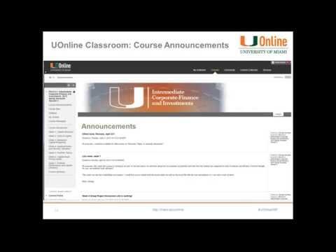 UM Master's in Finance Webinar with Dr. Brian Barrett