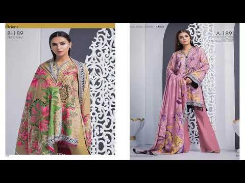 Orient Textiles LINEN 3PC Collection 2018 2019 Winter Dresses