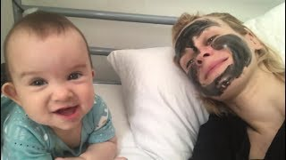 Babies React to Mom's Facial Mask  -  Baby and Mommy funny moments
