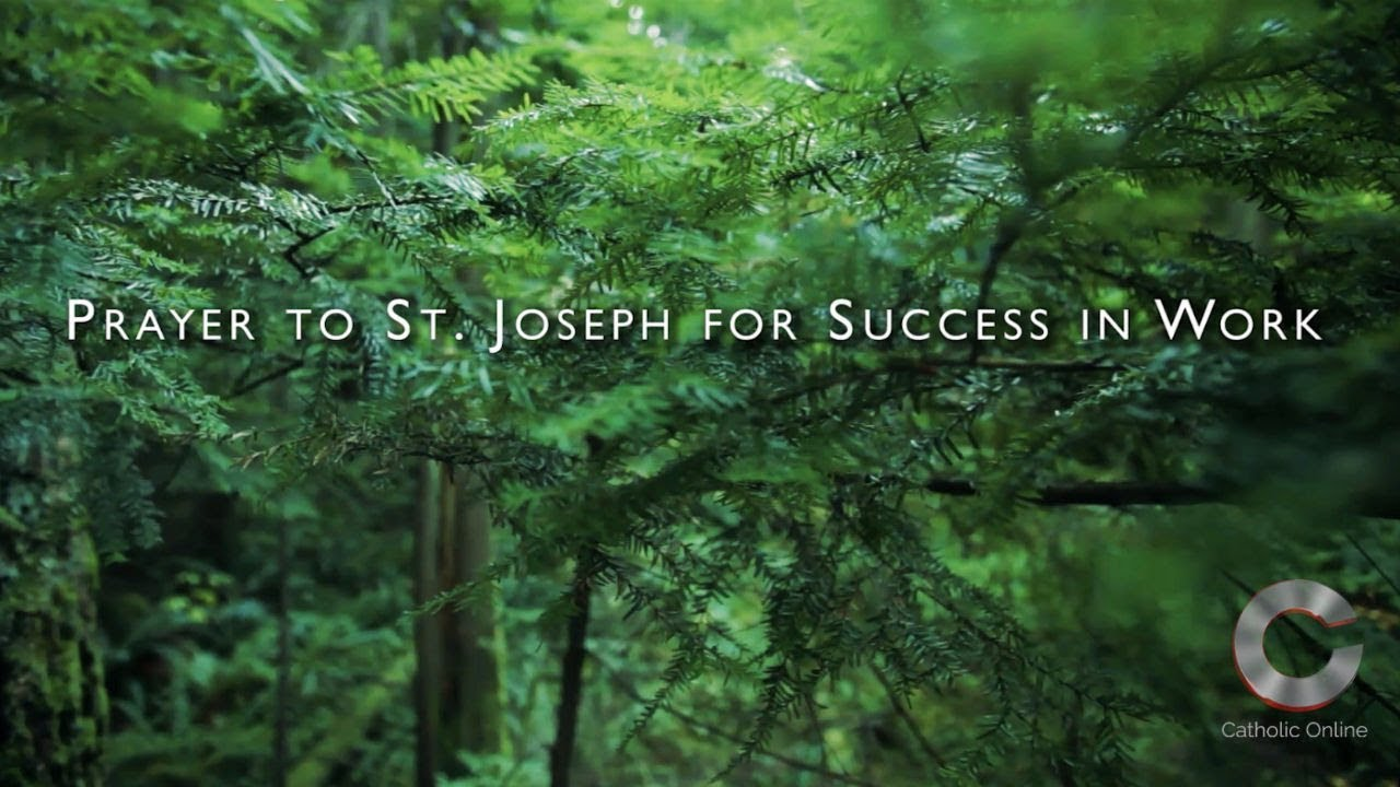 Prayer to Saint Joseph for Success in Work - Prayers