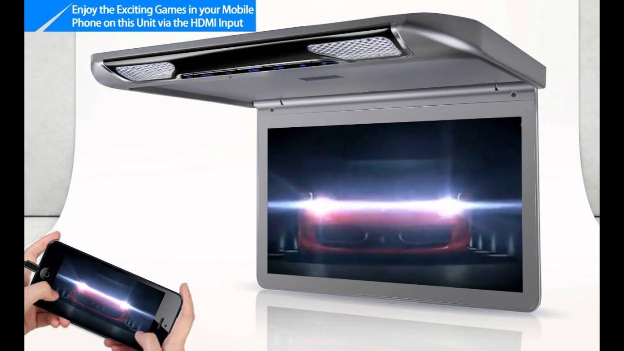 XTRONS CM133HD Car Roof Monitor   YouTube