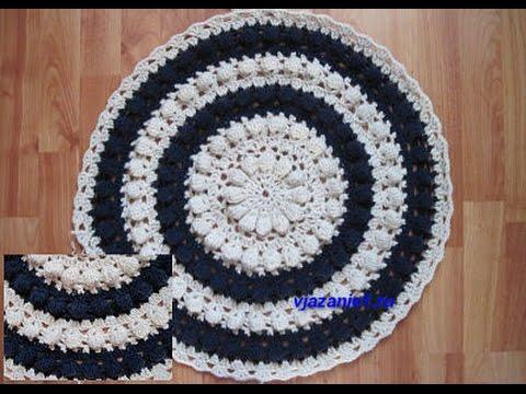 Схема крючком коврика на табурет