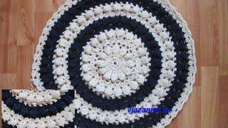 видео Накидка на стул своими руками: схема вязания коврика крючком, вязаные сидушки на табуретку