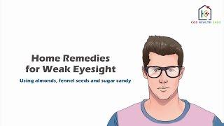 Home Remedies For weak Eyesight