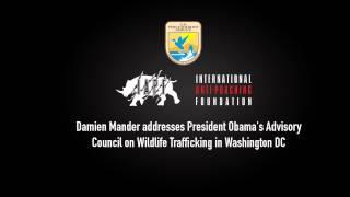 Damien Mander addresses President Obama