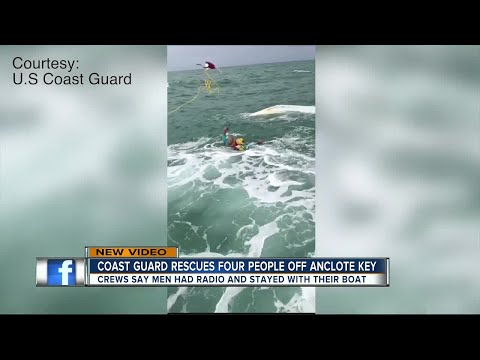 U.S. Coast Guard releases video of daring water rescue off Anclote Key