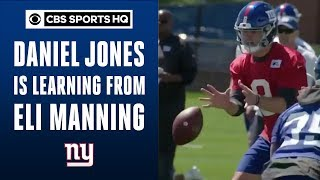 Rookie QB Daniel Jones is learning from veteran Eli Manning | Giants Minicamp | CBS Sports HQ