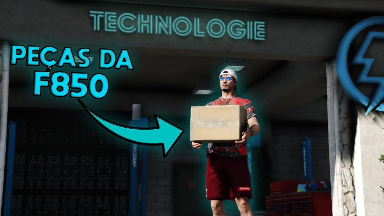 GTA V - VIDA REAL| LEVEI AS PEÇAS DA F850 PRA PINTAR!!!  Ep#42