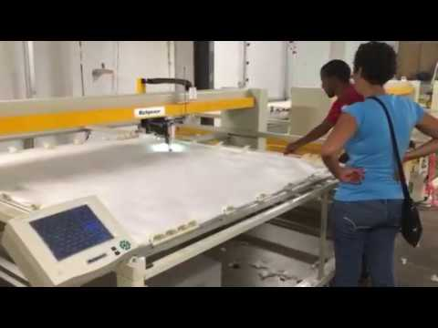 Factory in South Africa! Small Circle Tacking by Richpeace Single Needle Quilting Machine
