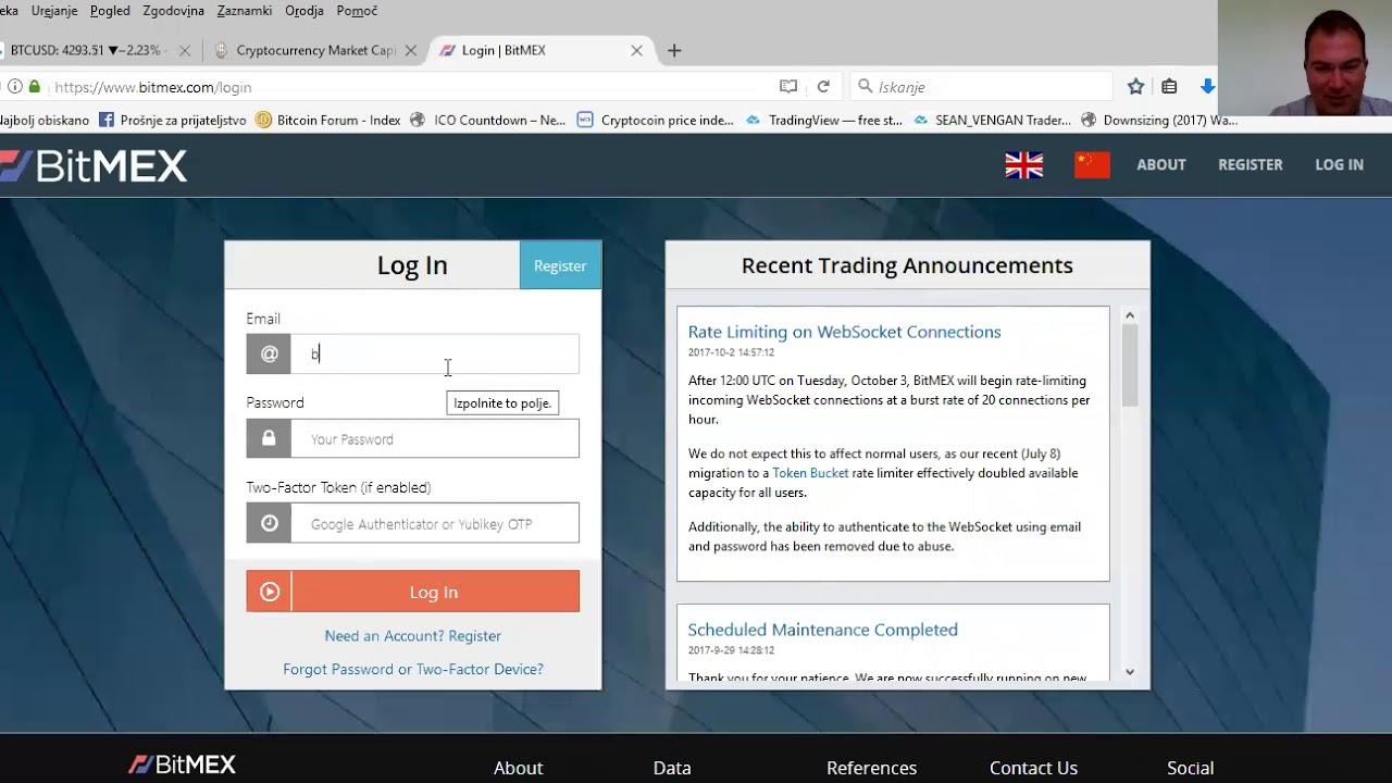 Bitcoin demo račun za trgovanje