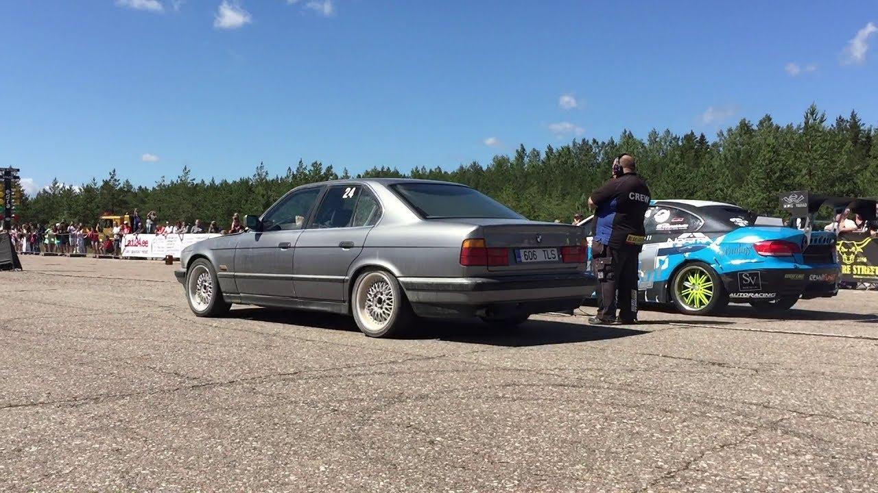 BMW 535i E34 3 4T vs BMW M3 E92 M50B31 Stroker Turbo 1/4 mile drag race