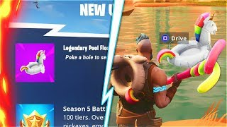 NEW POOL FLOATY In Fortnite Battle Royale.. (SECRET Fortnite Season 5 Update)