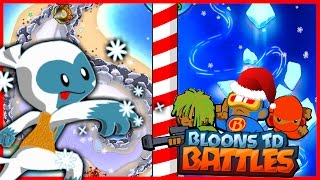 BEST MAPS EVER! - Bloons TD Battles - AMAZING NEW CHRISTMAS UPDATE IN BTD BATTLES