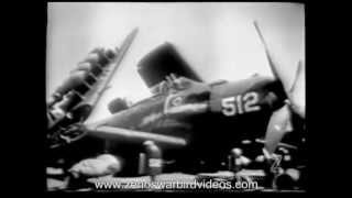 US Navy Carrier Planes in Action in the Korean War - 1954