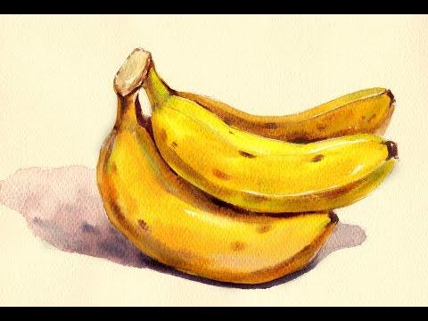 Foundation Course in Watercolor 8 - Banana  基礎水彩示範 - 香蕉
