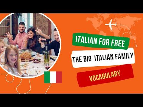 Italian family in Italian language. La famiglia Italiana.