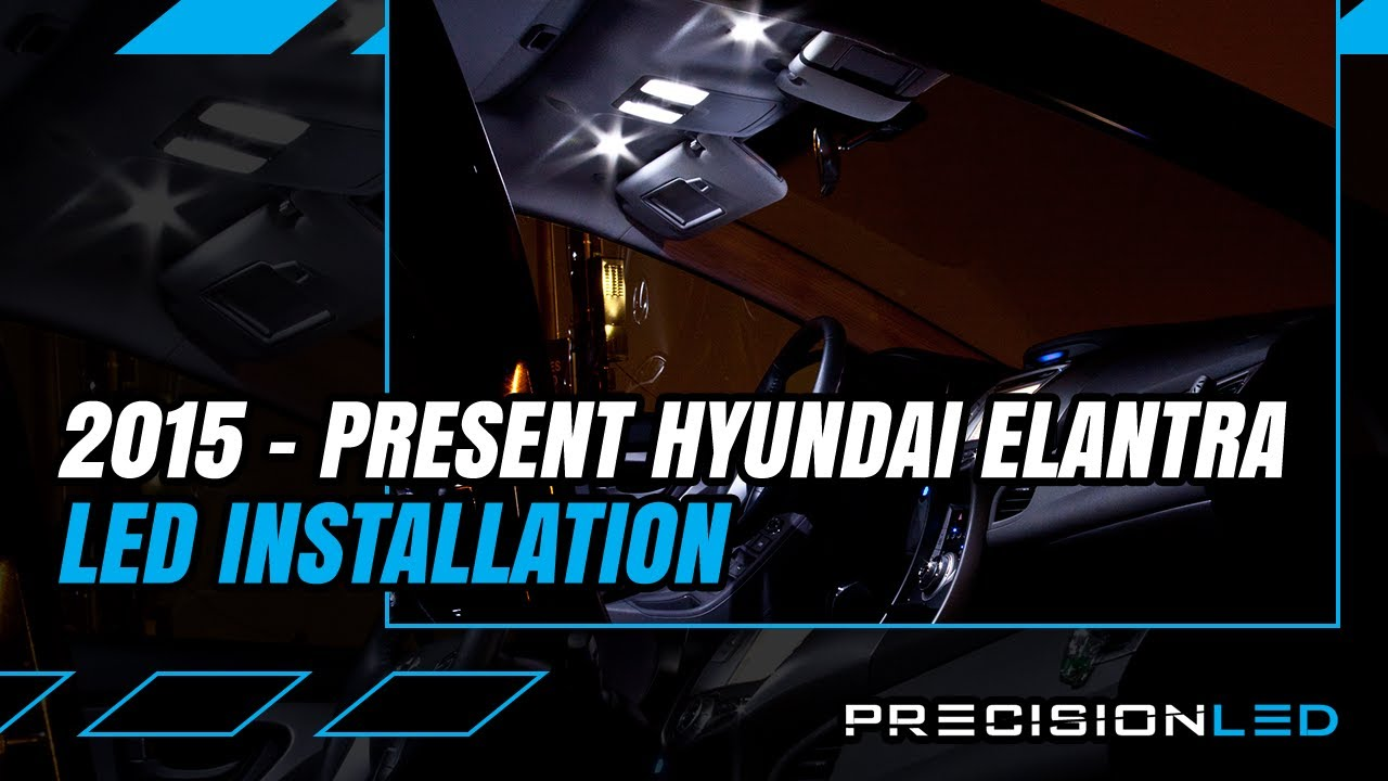 Hyundai Elantra LED Interior How To Install   6th Gen | 2015+