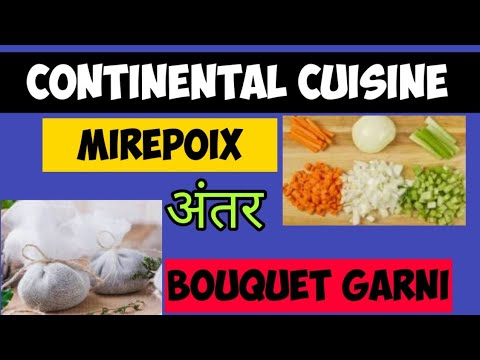 What Is Mirepoix In Continental Cuisine | What Is Bouquet Garni In Soup | Continental Cuisine