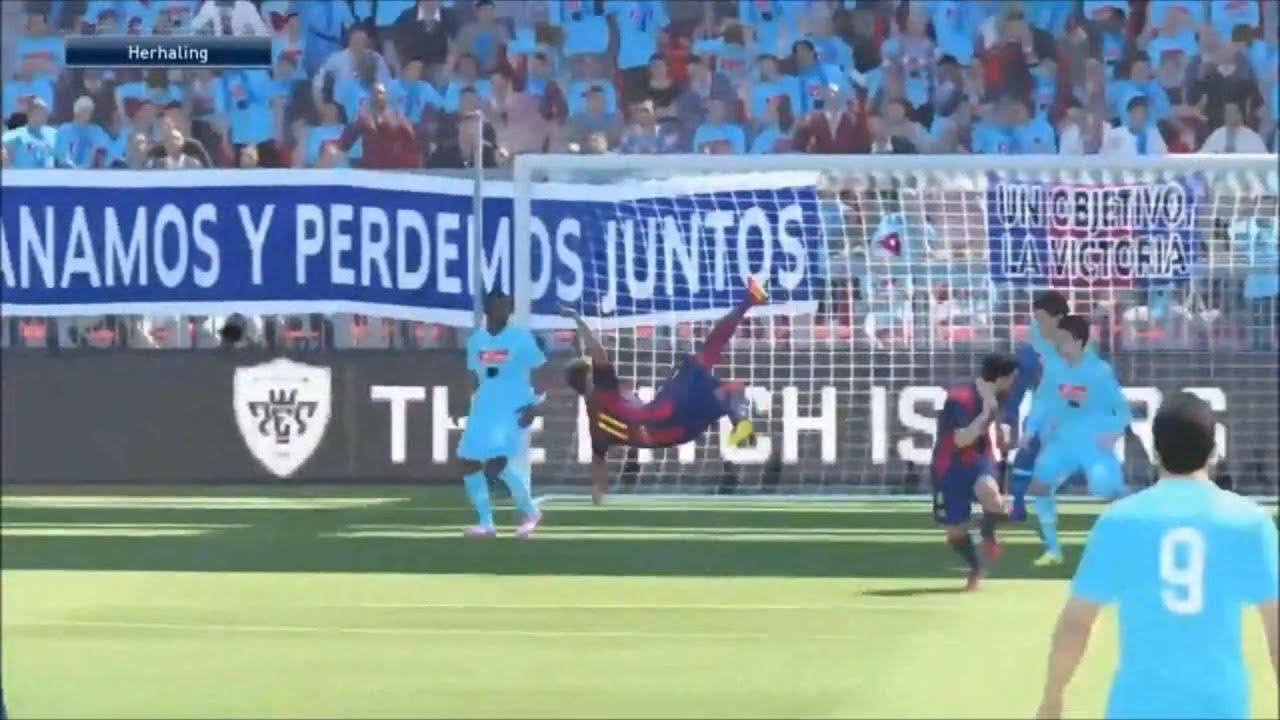 PES 2015 - Neymar Bicycle Kick Goal [HD] - YouTube