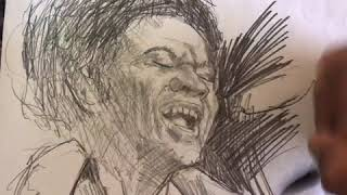 Bill Withers time lapse tribute sketch
