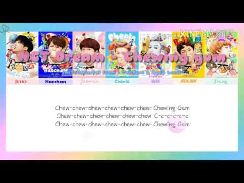 NCT Dream (엔씨티 Dream) - Chewing Gum [Karaoke ver.] Color Coded Lyrics [Instrumental With bg /Kpop]