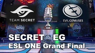 SECRET vs EG - ESL One Frankfurt 2015 Grand Final Dota 2