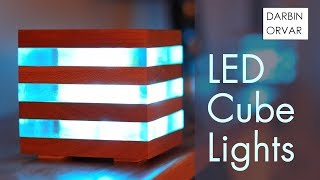 LED Acrylic & Wood Cube Lights