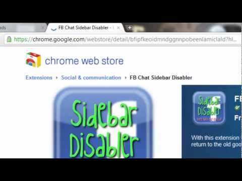 Facebook Help - How To Return/Restore the Old Facebook Chat box(Google Chrome)  [HD]