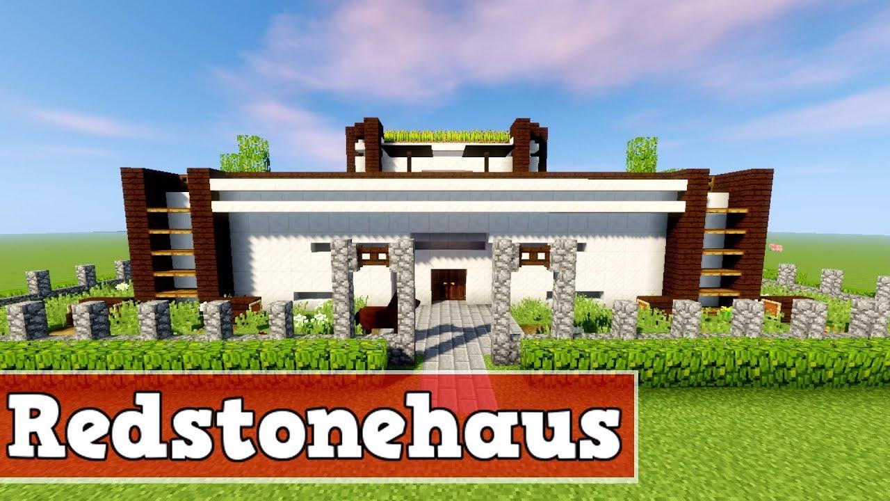 Minecraft Spielen Deutsch Minecraft Haus Bauen Mit Redstone Bild - Minecraft haus bauen mit redstone