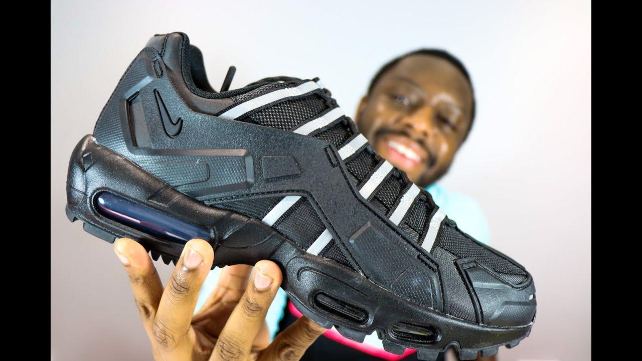 Nike Air Max 95 NDSTRKT Triple Black On Feet Sneaker Review - QuickSchopes 123 Schopes - CZ3591 001