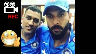 MS Dhoni And Yuvraj After Dhoni's Last Match As Captain | Dressing Room | MS DHONI | CIASIML
