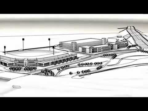Proposed Fayetteville Baseball Stadium/Property: Aerial Rendering & Driving Simulations