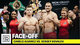 Canelo & Sergey Kovalev Weigh-In Ahead Of Light Heavyweight Clash