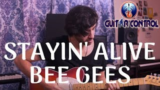 How To Play Stayin' Alive By Bee Gees - Rhythm Guitar Lesson On Pop Riffs