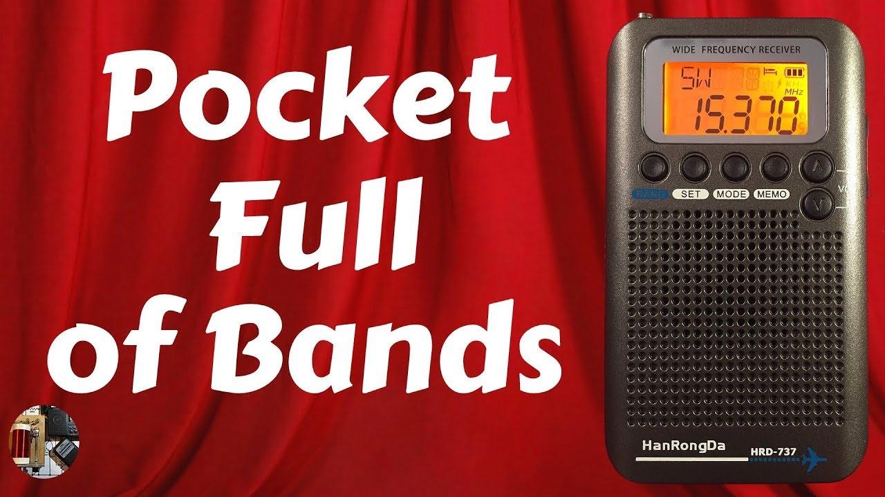 HanRongDa HRD-737 Portable Full Band Radio Aircraft Band Receiver FM//AM//SW//UHF