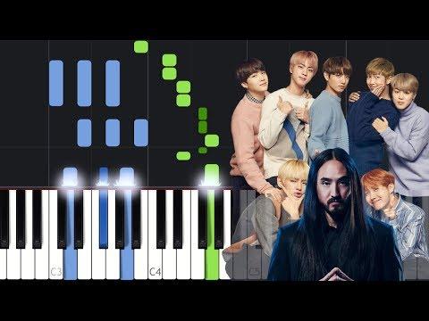 Steve Aoki - Waste It On Me Feat. BTS Piano Tutorial
