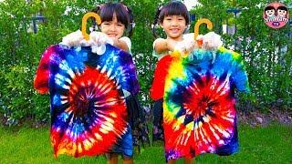 หนูยิ้มหนูแย้ม   ทำเสื้อมัดย้อม Kids Activity