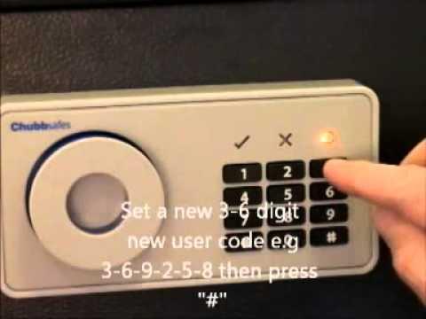 Chubb Elements Air - Set user code 1