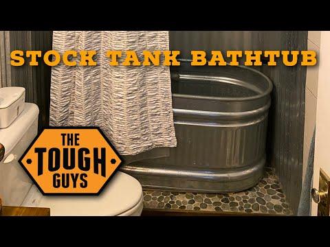 Steel Stock Tank / Water Trough Bathtub Install