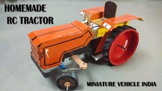 How to make a RC tractor at home | tractor model | miniature vehicle india