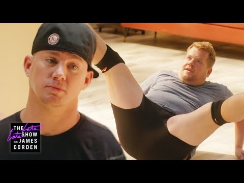 Channing Tatum Grooms James Corden for Magic Mike