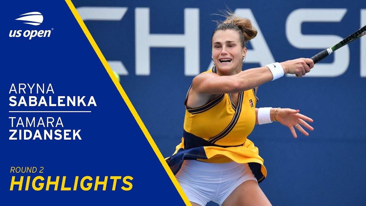Tamara Zidansek vs Aryna Sabalenka Highlights | 2021 US Open Round 2 -  YouTube