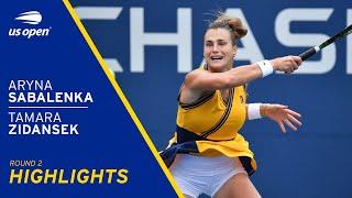 Tamara Zidansek vs Aryna Sabalenka Highlights