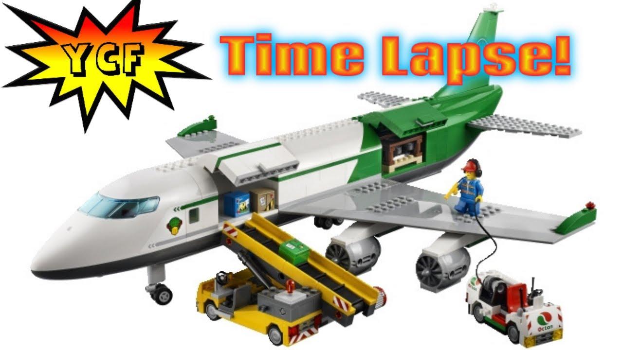 LEGO CITY Cargo Terminal 60022 Time Lapse Speed Build - BIG Airplane! - YouTube