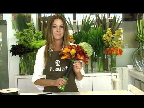 DIY Calla Lily With A Ribbon : Floral Arrangements